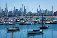 View of Melbourne from the inner south, at St Kilda pier