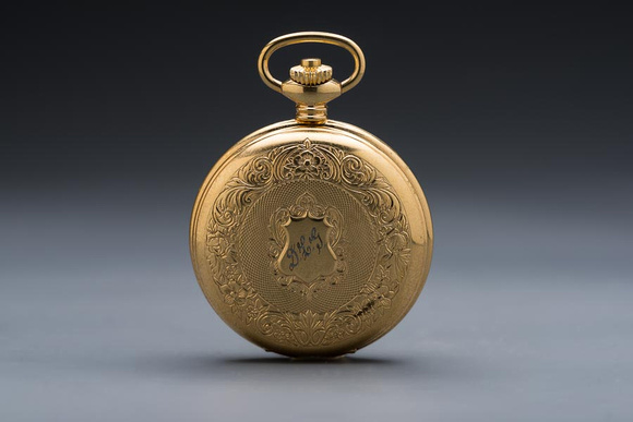 19C Gold Fob Watch - rear view