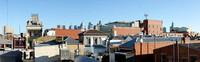 Panoramic image of Fitzroy towards Brunswick St with the city towers behind.